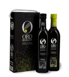 Extra vierge olijfolie Oro Bailen.Estuche 2 botellas 750 ml.