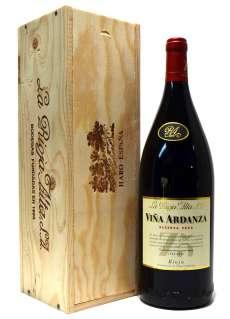 Rode wijn Viña Ardanza  en caja de madera (Magnum)
